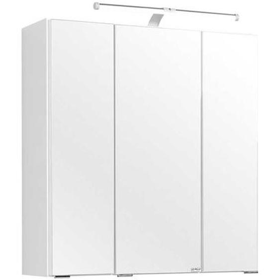 Badezimmer Spiegelschrank in Weiß 60 cm