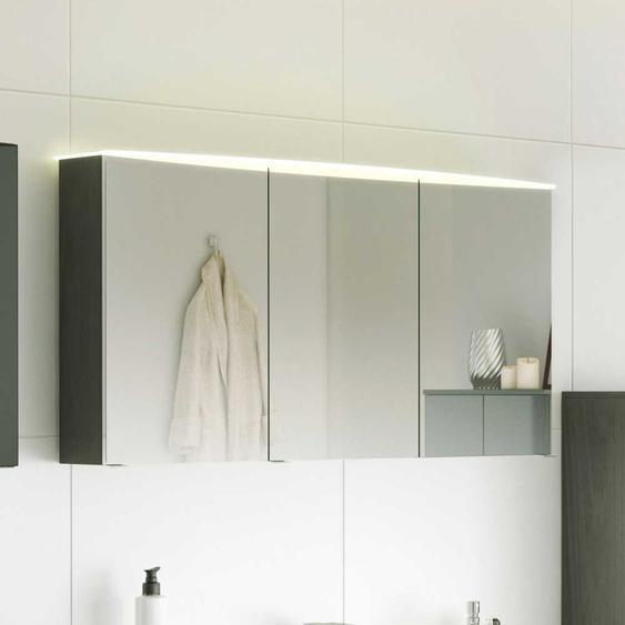 Badezimmer Spiegelschrank mit LED Beleuchtung 120 cm breit