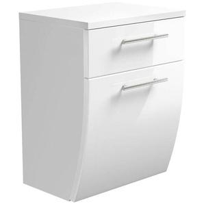 Badezimmer Unterschrank TALONA-02 Hochglanz weiß, B x H x T ca. : 40 x 53 x 30 cm