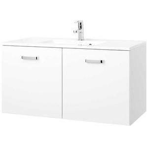 Badezimmer Waschtisch in Hochglanz Weiß modern