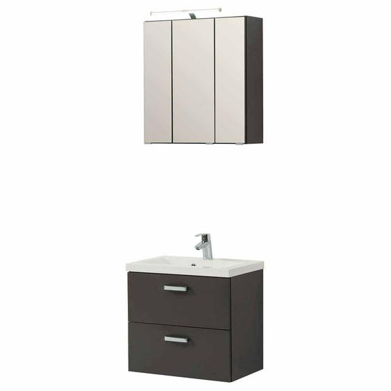 Badezimmermöbel Set in Dunkelgrau kaufen (2-teilig)