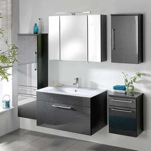 Badezimmerm�bel Set in Hochglanz Anthrazit modern (5-teilig)