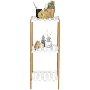 : Badezimmer, Bambus, Braun, Weiß, B/H/T 30 80 33