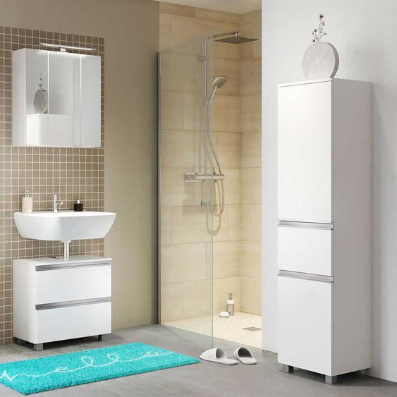 Badezimmerset in Wei� Stand- und Wandmontage (3-teilig)