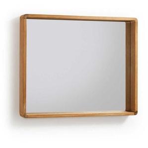 Badezimmerspiegel aus Teak Massivholz 80 cm breit