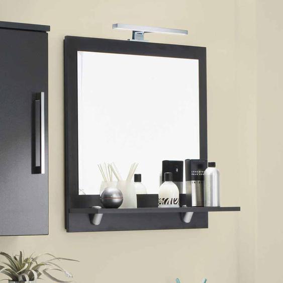 Badezimmerspiegel in Anthrazit 60 cm