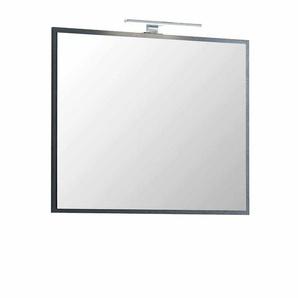 Badezimmerspiegel in Dunkelgrau LED Beleuchtung
