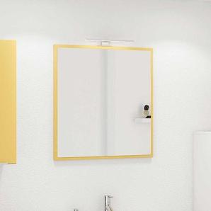 Badezimmerspiegel in Gelb 60 cm breit