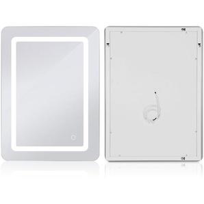 Badezimmerspiegel mit Beleuchtung Badspiegel LED Touch (50x70x4cm, 9W) - OOBEST