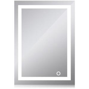 Badezimmerspiegel mit Touchschalter LED (60 x 80 cm, kaltweiß) - OOBEST