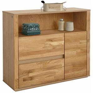Badkommode, braun, Material Massivholz »Como«, Guido Maria Kretschmer Home&Living, mit Schubkästen