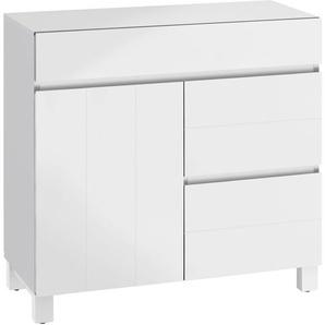 Home affaire Badkommode, 80x35x79 cm, FSC®-zertifiziert, weiß, Material Massivholz »Kaika«