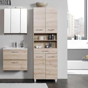 Badmöbel Komplettset in Buche online kaufen (3-teilig)