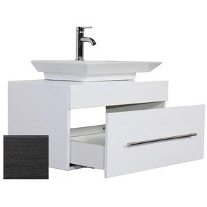 Badmöbel Pegasus anthrazit gemasert mit Aufsatzwaschbecken