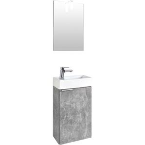 Waschtisch-Set , grau, »Gizo«, Energieeffizienzklasse: A+ (Skala A++ bis E), Homexperts