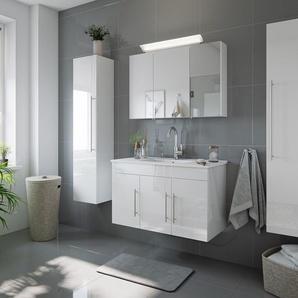 Badmöbel-Set Venezia 100 cm (4-teilig) weiß hochglanz