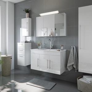 Badmöbel-Set Venezia 100 cm (5-teilig) weiß hochglanz