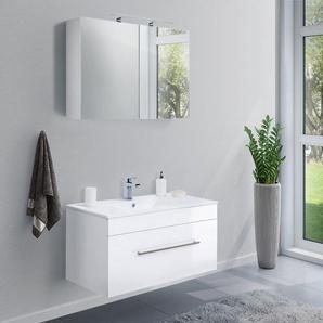 Badmöbel-Set VIVA 100 (2-teilig) weiß hochglanz