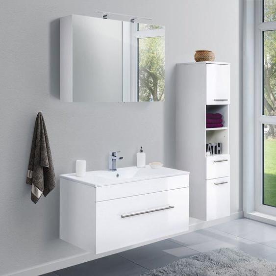 Badmöbel-Set VIVA 100 (3-teilig) weiß hochglanz
