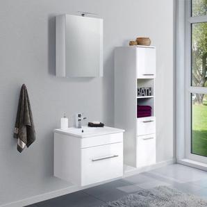 Badmöbel-Set VIVA 60 (3-teilig) weiß hochglanz
