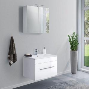 Badmöbel-Set VIVA 75 (2-teilig) weiß hochglanz