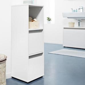 Badschrank - braun - Holz -