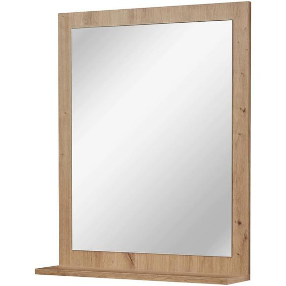Badspiegel Agostino, mit Ablage B/H/T: 59 cm x 71,4 14 braun und Spiegelschränke Badmöbel Badaccessoires SOFORT LIEFERBARE Möbel