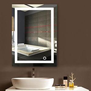 Badspiegel LED Beleuchtung Wandspiegel Badezimmerspiegel mit Touchschalter ( 60 x 80 cm, kaltweißen) - WYCTIN
