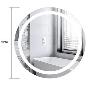 Badspiegel LED Quecksilber-Badezimmerspiegel Anti-Fog Badspiegel Rund Wandspiegel Badspiegel - WYCTIN