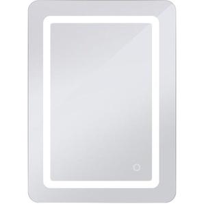 Badspiegel mit Beleuchtung,Badezimmerspiegel mit Beleuchtung,Badezimmerspiegel LED Touch 500 * 700 * 40mm mit Licht 9W - WYCTIN