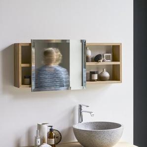 Badspiegel Spiegel mit Ablagefläche Badezimmer Teak unbehandelt neu