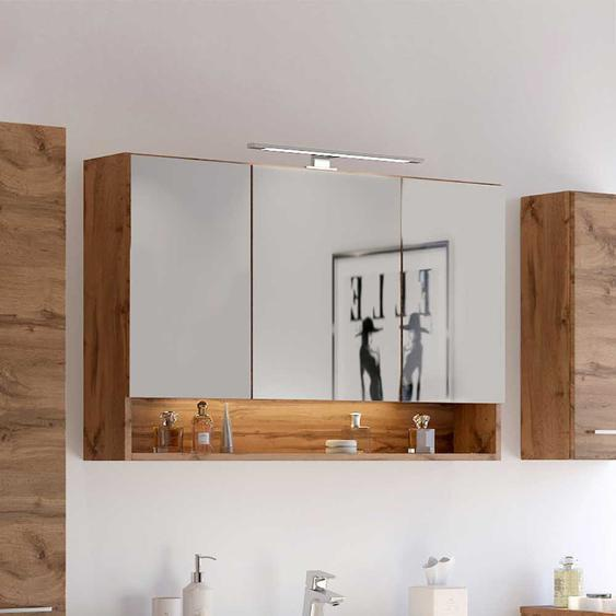 Badspiegelschrank in Wildeichefarben 3-türig