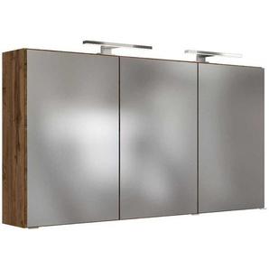 Badspiegelschrank in Wildeichefarben 3-t�rig