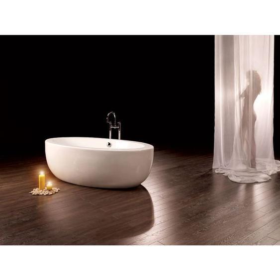 Freistehende Badewanne Cartagena Piccolo aus Acryl in weiß glänzend von Bädermax