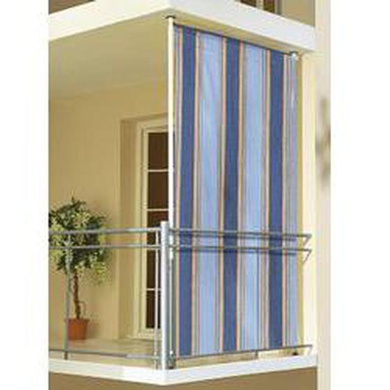 Balkon-Seitensichtschutz, Größe 120 (Breite 120 cm), Blau