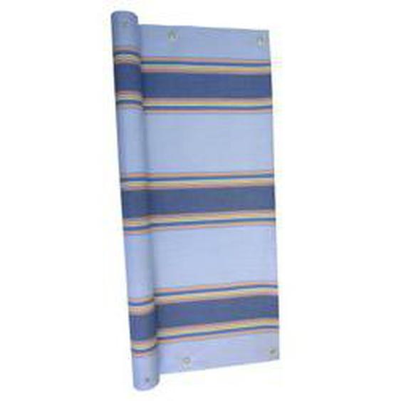 Balkonbespannung in verschiedenen Farben, Größe 075 (Höhe 75 cm), Blau Gestreift
