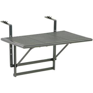Balkonhängetisch Balkonhängetisch, grau, Metall