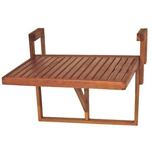 : Tisch, Eukalyptusholz, Braun, B/H/T 64 44 52