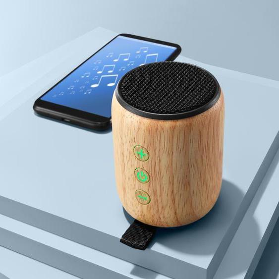 Bambus-Bluetooth®-Lautsprecher - schwarz -