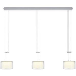 Bankamp LED-Pendelleuchte, Alu, Alu, Eisen, Stahl & Metall