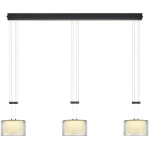 Bankamp LED-Pendelleuchte, Anthrazit, Alu, Eisen, Stahl & Metall