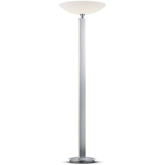 Bankamp LED-Standleuchte, Nickel matt / Chrom, Alu, Eisen, Stahl & Metall