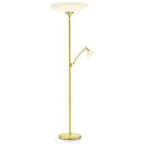 Bankamp LED-Stehlampe, Messing, Messing, (Blatt-)Gold