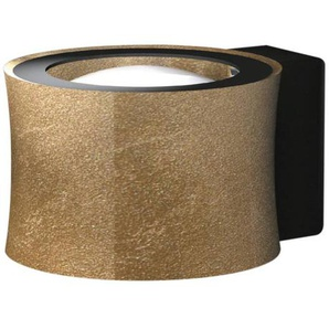Bankamp LED-Wandleuchte, Gold, Alu, Eisen, Stahl & Metall
