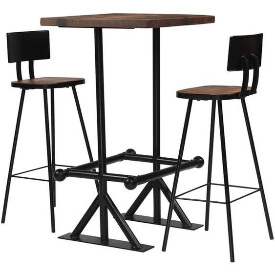 Bar-Set 3-tlg. Altholz Massiv