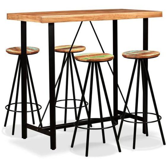 Bar-Set 5-tlg. Massivholz Akazie und Altholz