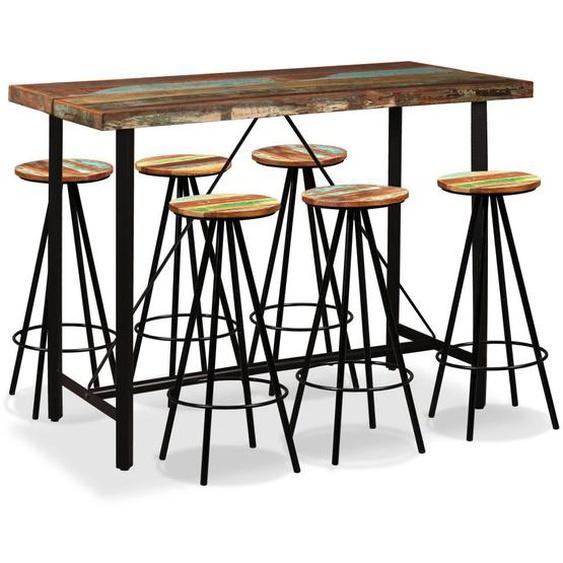 Bar-Set 7-tlg. Altholz Massiv