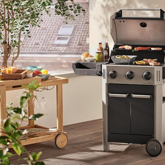 Barbecue-Trolley - naturfarben - Akazie -