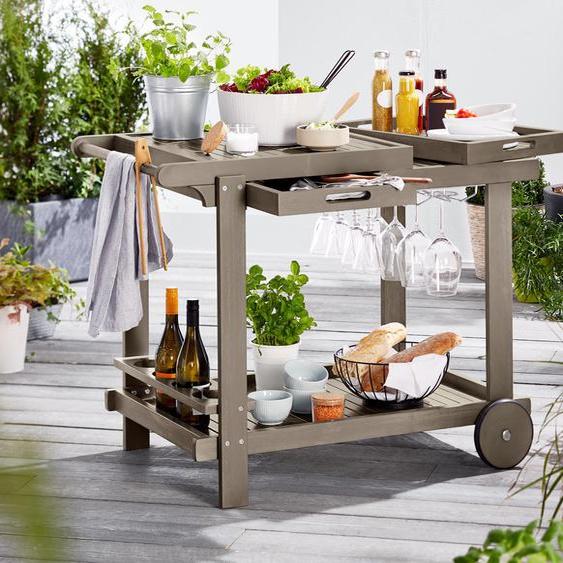 Barbecue-Trolley - Vintage Grey - Akazie -