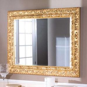 Barock Design Spiegel in Goldfarben 110 cm breit